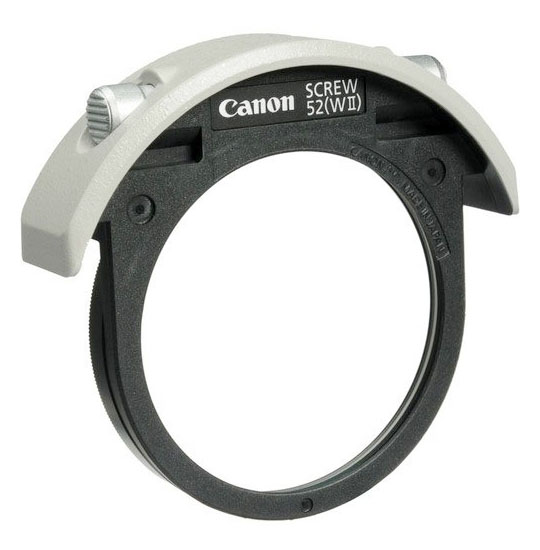 Drop-in 52 filter for Canon EF 400 lens