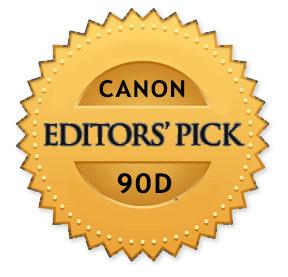 Canon 90D editors pick award