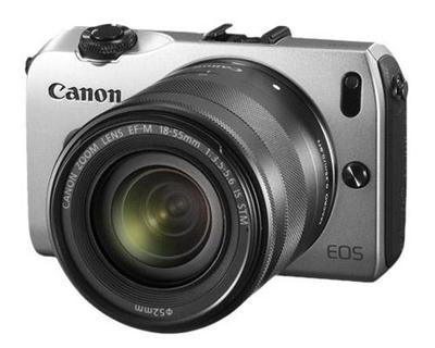 EOS-M with Zoom Lens Attached