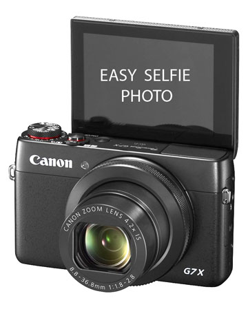 Flip-up Selfie Photo LCD Screen