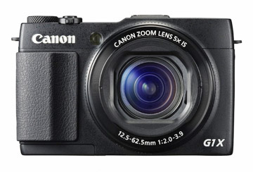 Photo of front of Powershot G1X Mark II Camera