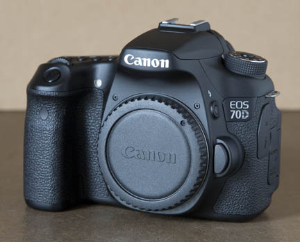 Front view of Canon 70D body only