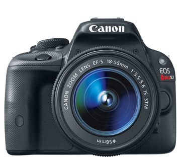 Front view of Canon Rebel SL1 Camera