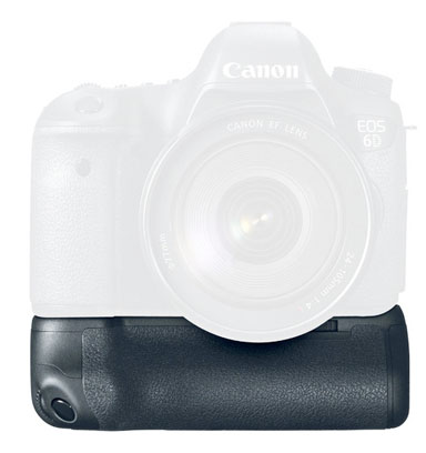 Front View of Canon 6D Battery Grip