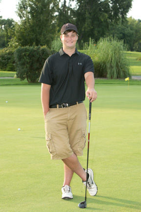 High Speed Sync Needed With this strongly back-lit golfing high school senior