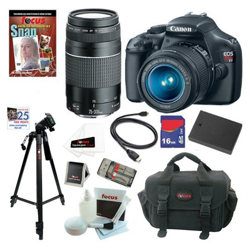 Highest rated Canon DSLR Camer-lens kit with accessories