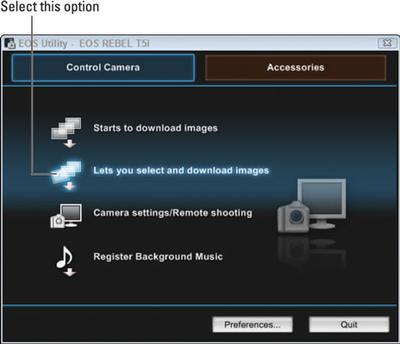 Canon EOS Utility Screenshot