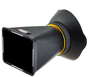 Get a better brighter look at your LCD screen with a loupe viewer