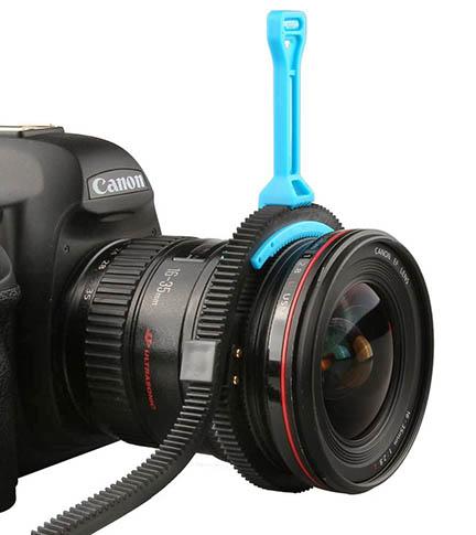 Lens focus handle lever