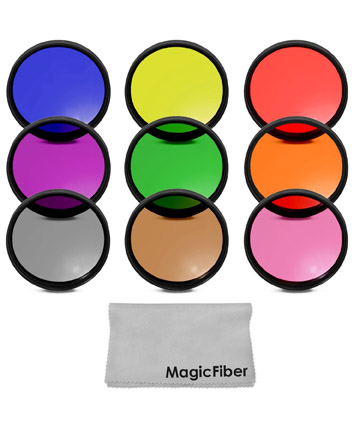 Multiple color lens filter kits