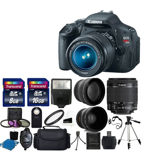 New Canon REbel t3i Camera Bundle