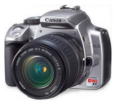 Silver Canon Rebel XT