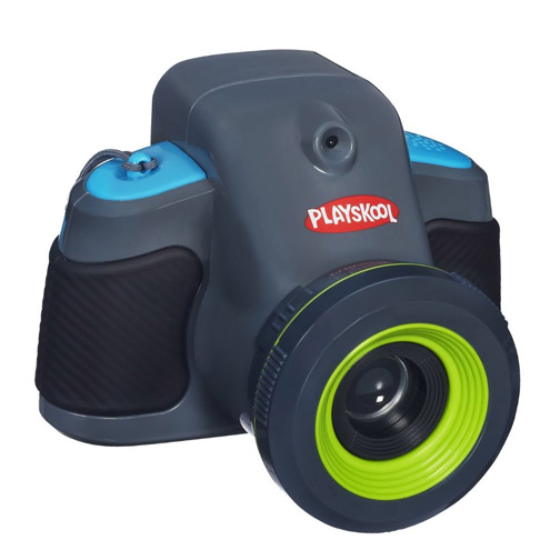 Playskoo Showcam Kids Digital Camera. Looks like mommie's DSLR, but doesn't perform like one