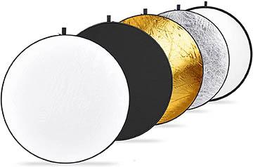 Round photo reflectors
