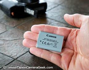 Small Canon NB-12L G1x Mark II Battery