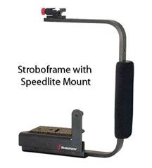 Stroboframe flash bracket