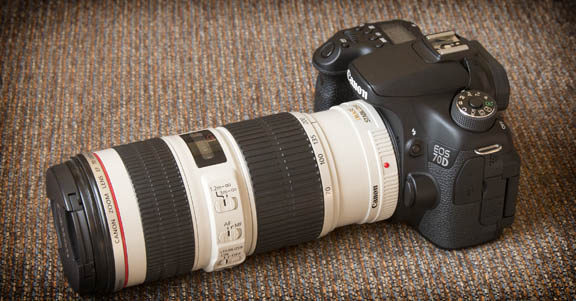 The Canon EF 70-200mm f/4 - Canon EOS 70D Camera Combo