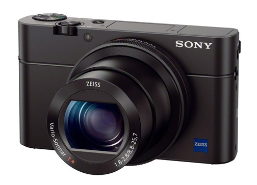 3/4 view of Sony RX100 Mark 3