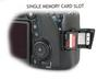 Canon 70D - Single Memory Card Slot