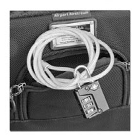 Camera bag with lock