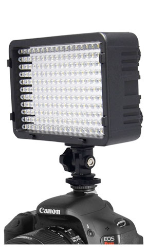 Video light for DSLR hot shoe