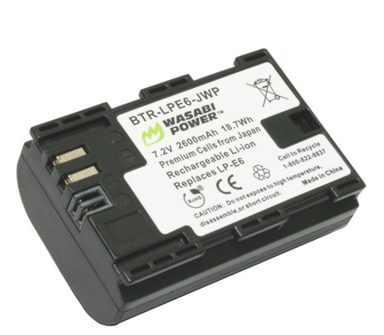 Wasabi Battery For Canon EOS 60D