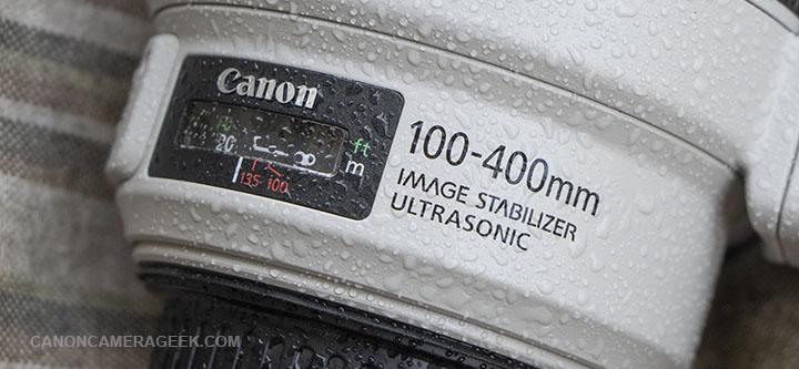 Wet Canon 100-400mm IS II Lens