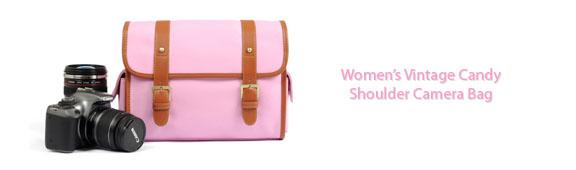 Woman's Pink Camera Bag