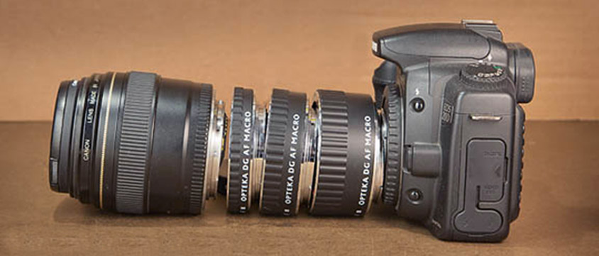 3 Extension Tubes for Canon DSLR Camera