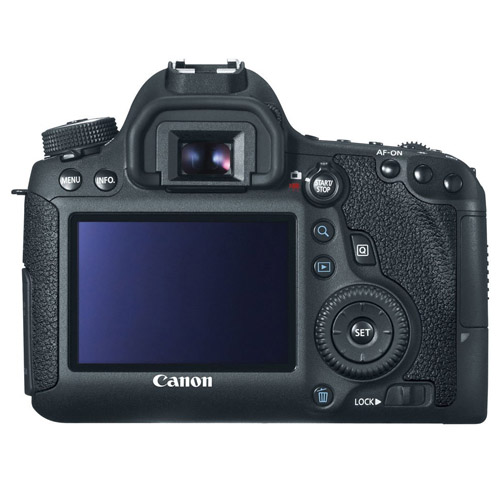 Back of Canon EOS 6D Camera