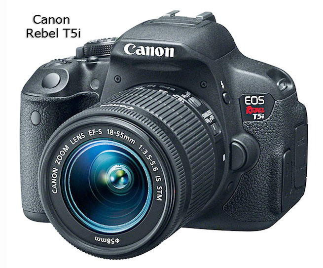 Canon T5i - The more modern upgrade from the Canon T3i
