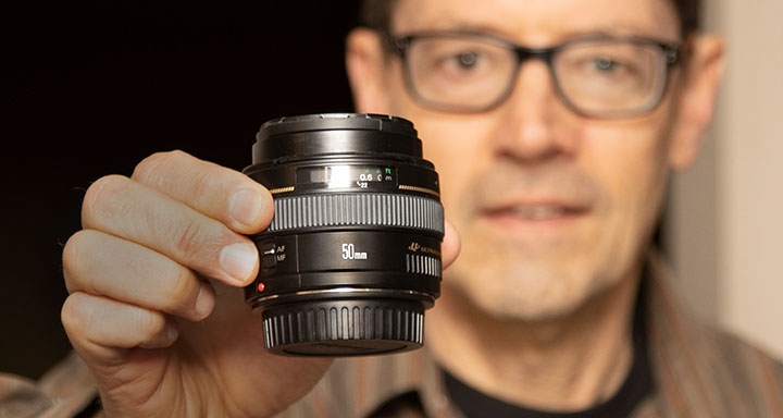 Bruce and 50mm f/1.4 lens