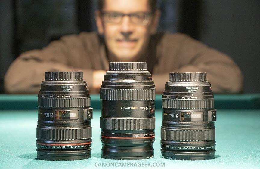 Canon 24-105 versus 24-70 lens