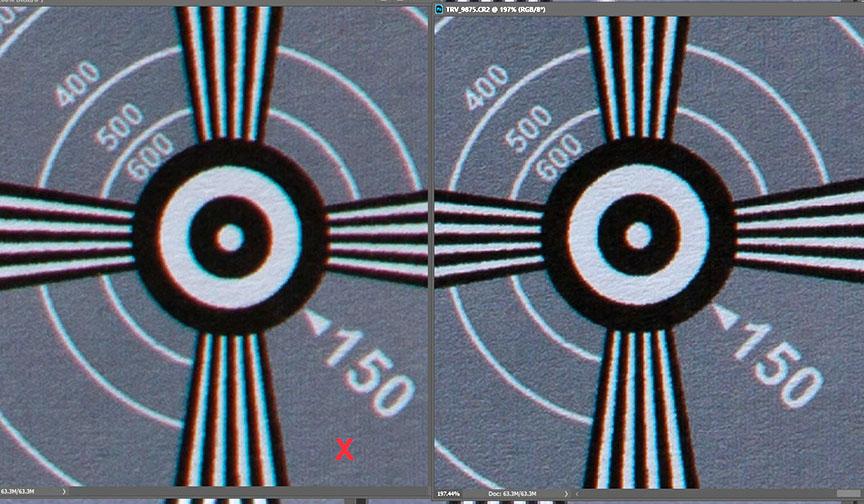 Canon 1.4X tele-extender test comparison