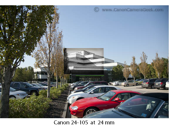 Canon EF 24-105mm set at 24mm