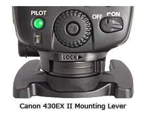 Canon 430Ex II Mounting Lever