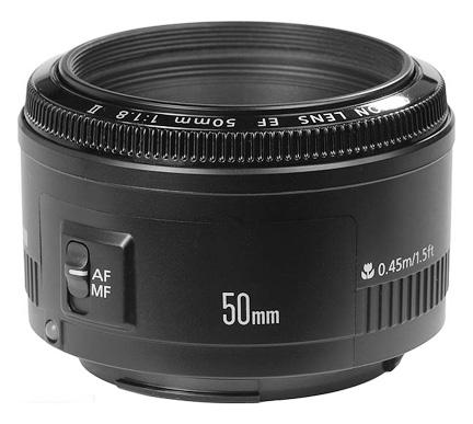 Canon 50mm f1.8 II lens