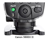 Canon 580ex-II foot locking lever