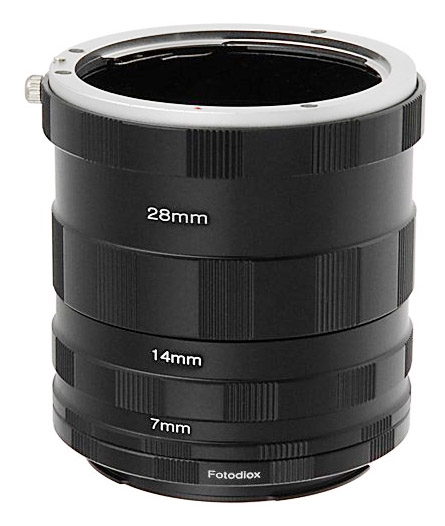 Stack of connected extension tubes