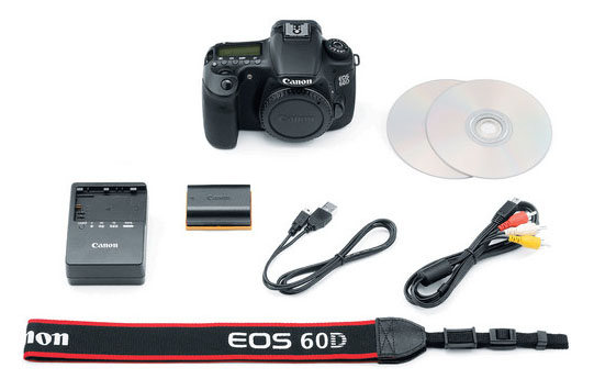 Included Accessories with Canon 60D - Minus the Kit Lens