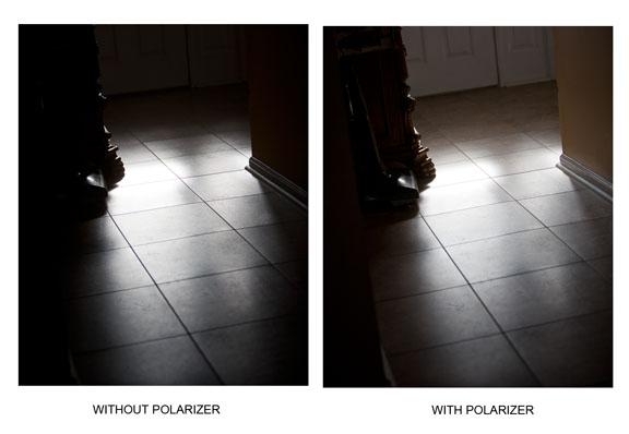 Canon 70-200 Polarizing filter-Reflection Comparison