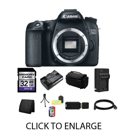 Canon 70D bundle without any lenses