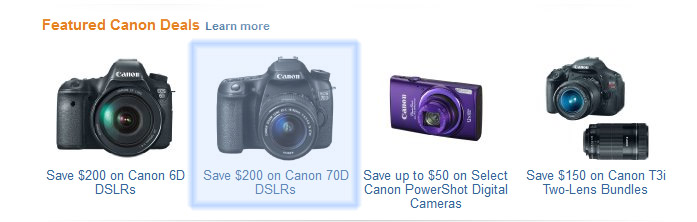 This is the Canon 70d deals - Advertisement I received