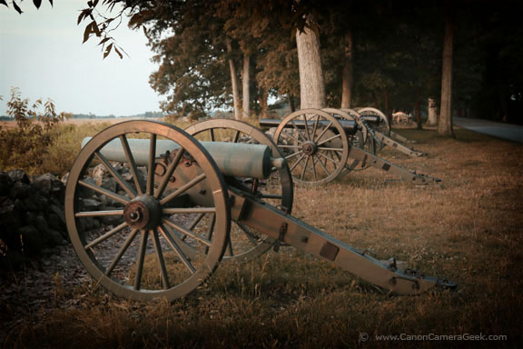 Gettysburg Canons Photographed with my Canon, the EOS 70D