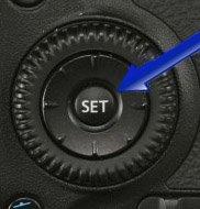 Canon 70D set button