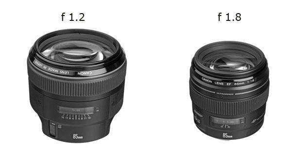 Canon 85mm f/1.2 vs. f/1.8