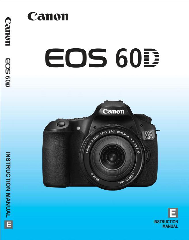 Canon 60D Manual - Photo of Instruction-Specs Manual