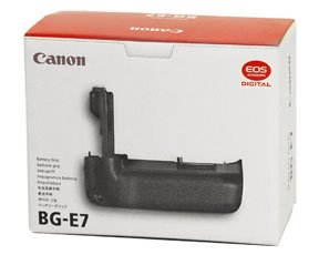 The Canon BG-E7 Battery Grip doubles your shooting capacity, gives you vertical orientation controls, and makes you look like a pro shooter
