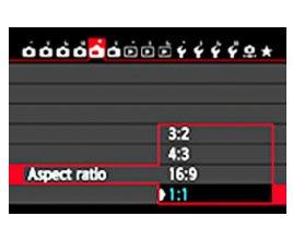 Canon 70D Multi Aspect Ratio Settings