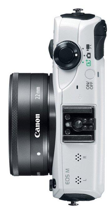Alternative view of the Canon EOS-M camera